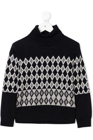 Chloé Girls Sweaters - Diamond knit jumper