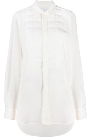 Bottega Veneta Padded-detail long-line shirt - Neutrals