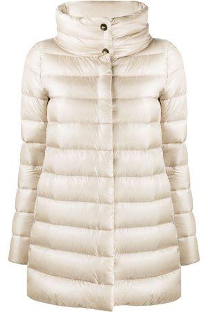 HERNO Mock neck padded coat - Neutrals