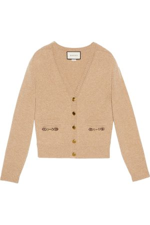 Gucci Horsebit-detail cardigan - Neutrals