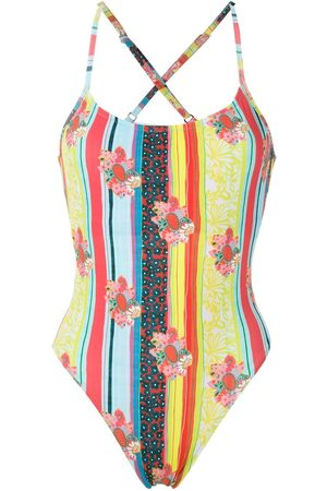 AMIR SLAMA Printed one piece swimsuit - Multicolour