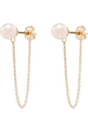 Mateo 14kt pearl chain earrings