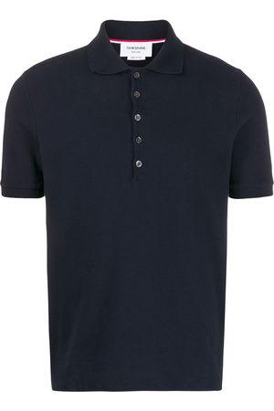 Thom Browne Men Polo Shirts - 4-Bar piqué polo shirt