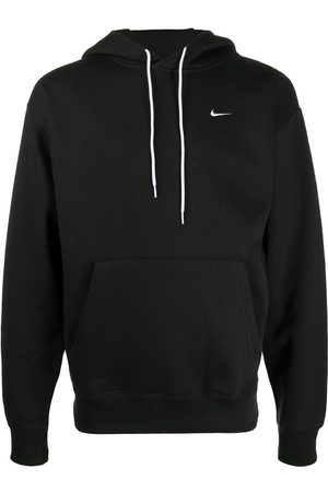 Nike Pouch-pocket logo embroidered hoodie