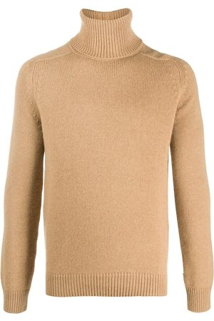 Saint Laurent Roll-neck raglan-sleeve jumper - Neutrals