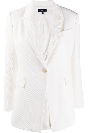 THEORY V-neck tailored blazer - Neutrals