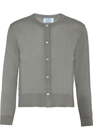 Prada Wool knitted cardigan - Grey