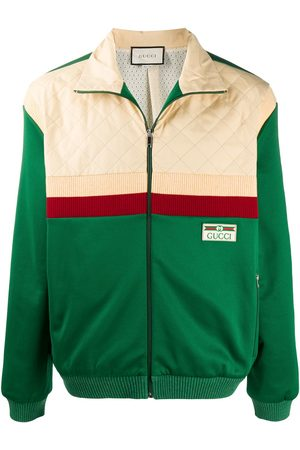 Gucci Men Bomber Jackets - Colour-block bomber jacket