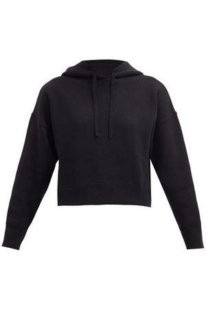 VALENTINO Cropped Jersey Hooded Sweatshirt - Womens