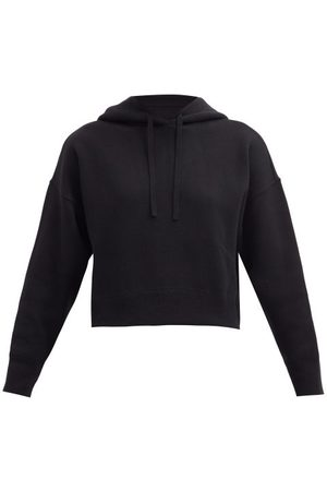 VALENTINO Cropped Knitted Hooded Sweatshirt - Womens