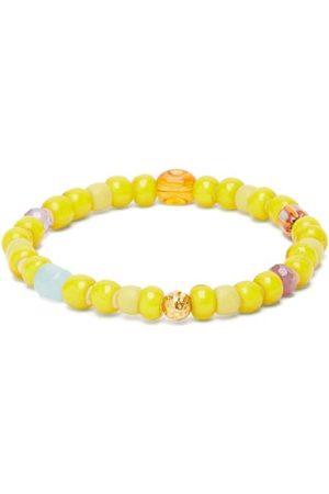 Musa by Bobbie Aquamarine, Amethyst & 18kt Gold Bead Bracelet - Womens
