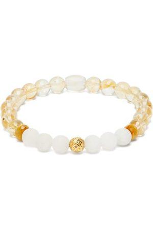 Musa by Bobbie Citrine, Agate & 18kt Gold Beaded Bracelet - Womens