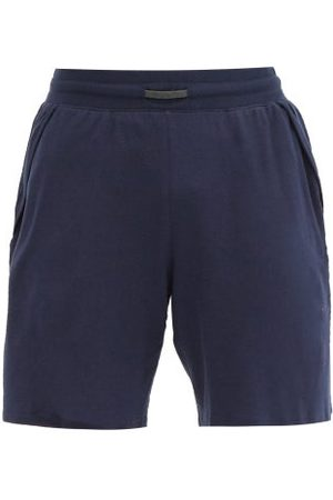 Lahgo Cool Cotton-blend Jersey Shorts - Mens - Navy