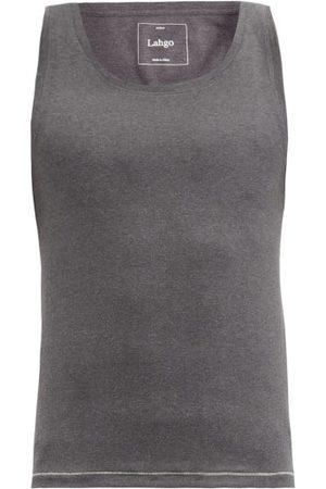 Lahgo Restore Cotton-blend Tank Top - Mens - Dark Grey