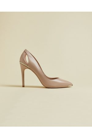 Ted Baker Leather Cut Out Heeled Court Shoes