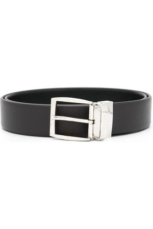 CANALI Logo buckle belt
