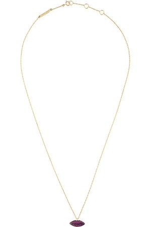 DELFINA DELETTREZ Women Necklaces - Lips' rubies necklace