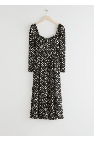 & OTHER STORIES Puff Sleeve Midi Dress
