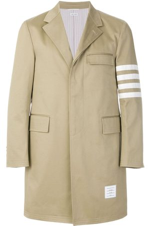 Thom Browne Unconstructed 4-Bar Stripe Classic Chesterfield Overcoat - Neutrals