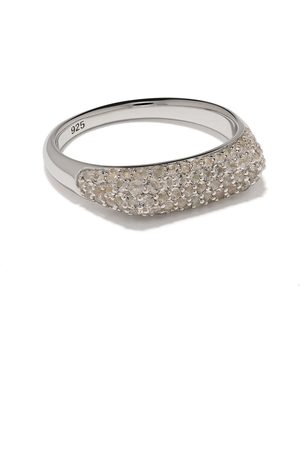 TOM WOOD Rings - Knut crystal studded ring