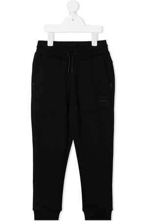 HUGO BOSS Logo print cotton tracksuit bottoms