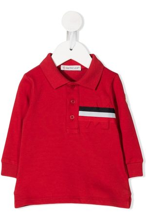 Moncler Polo Shirts - Stripe trim polo shirt