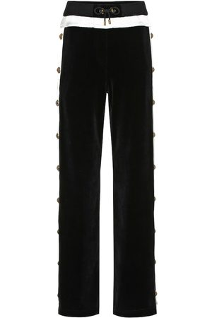Balmain Embellished velvet trackpants