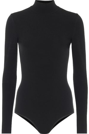 Alaïa Wool-blend turtleneck bodysuit