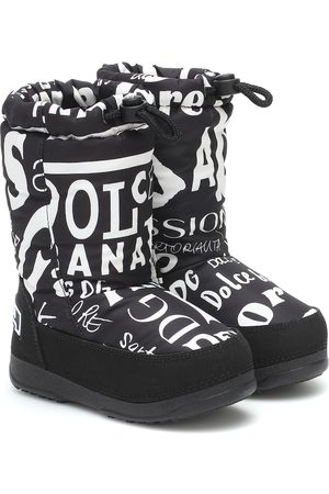 Dolce & Gabbana Printed nylon snow boots