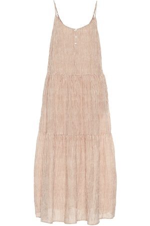 Velvet Steffi striped cotton maxi dress