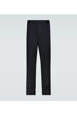 Thom Browne Men Formal Pants - Straight-leg cotton pants