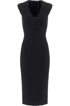 Alaïa Scalloped knit midi dress