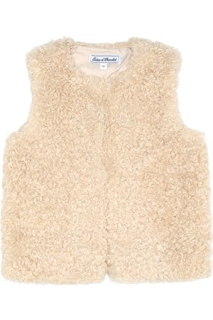 Tartine Et Chocolat Faux shearling vest