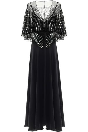Paco rabanne Sequined satin gown