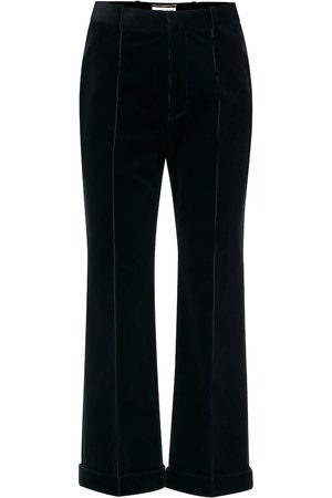 Saint Laurent High-rise cropped corduroy pants