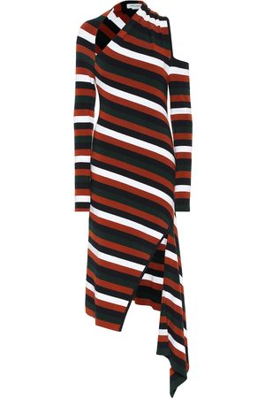 MONSE Striped merino wool-blend midi dress