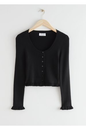 & OTHER STORIES Fitted Contrasting Ruffles Top