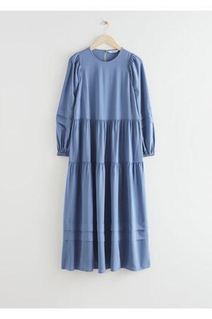 & OTHER STORIES Voluminous Tiered Midi Dress