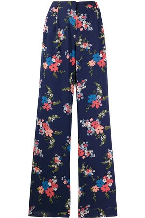 Michael Kors Women Pants - Floral-print pleated trousers