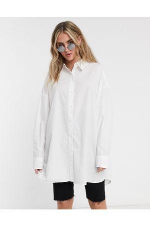 Weekday Tova organic cotton oversized shirt in