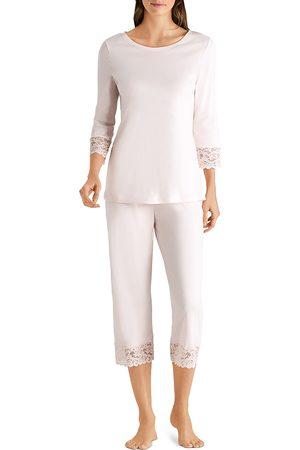 Hanro Women Nightdresses & Shirts - Moments Cropped Pajama Set