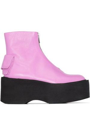 Natasha Zinko Women Heeled Boots - Zip-front 80mm platform boots