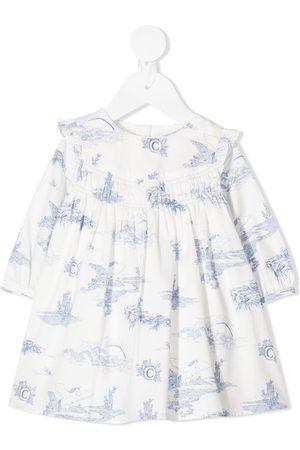 Chloé Graphic print long-sleeve dress