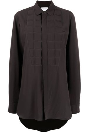 Bottega Veneta Padded-detail long-line shirt