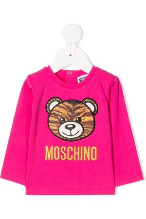 Moschino Tiger embroidered long-sleeve T-shirt