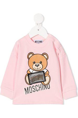 Moschino Hoodies - Hologram logo patch sweatshirt