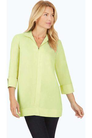 Foxcroft Women Tunics - Lydia Stretch Non-Iron Zip-Up Tunic