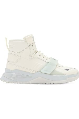 Balmain B Ball High-top Leather Sneaker W/ Strap