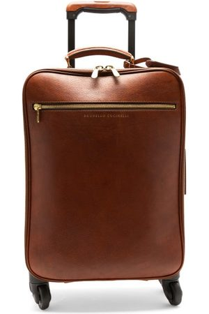 Brunello Cucinelli Grained-leather Carry-on Suitcase - Mens