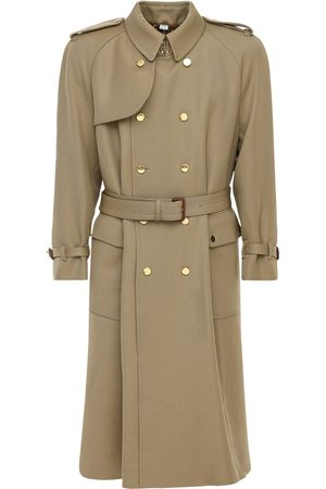 Gucci Vintage Label Wool Long Trench Coat
